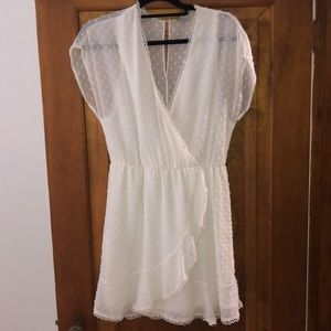 White wrap dress - worn once!